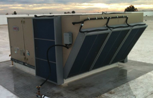 Evaporcool Installed on Chiller A/C Unit
